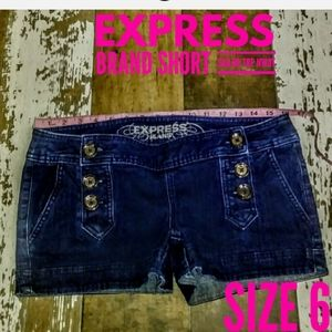Express Shorts Size 6 Stretch Sailer Tops NWOT